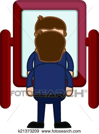 Image result for clip art man looks in mirror