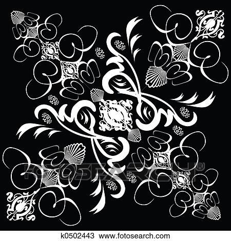 Fleur Carreau Gothique 1 Dessin