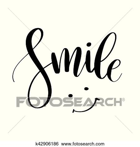 clip art of smile inspirational quote phrase modern calligraphy rh fotosearch com inspirational clip art the sick inspirational clipart png