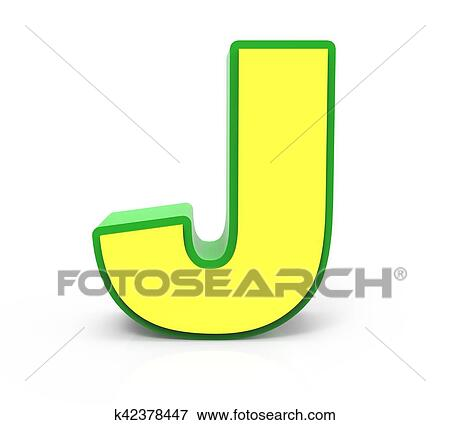 Stock Illustration Of 3d Toy Letter J K42378447 Search Eps Clipart