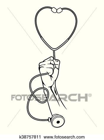 Doctor Holding Stethoscope Clipart K38757811 Fotosearch