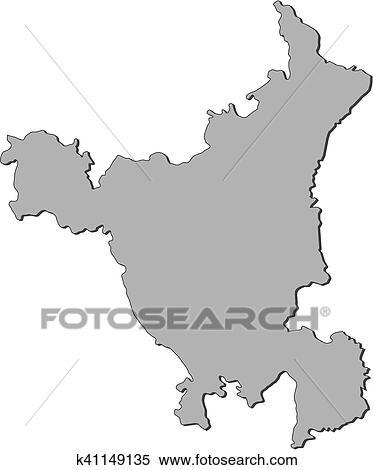 Haryana India Map.Clipart Of Map Haryana India K41149135 Search Clip Art