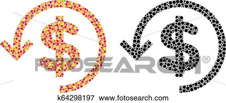 2289ea210c74 Clip Art - Pixel Refund Mosaic Icons. Fotosearch - Search Clipart