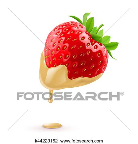 Strawberries In Chocolate Drawing K44223152 Fotosearch