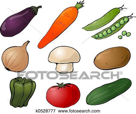 野菜 イラスト イラスト K0528777 Fotosearch