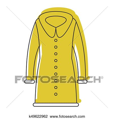 e1870e6cb88b Clipart - Coat fashion in doodle style icons vector illustration for design  and web isolated.