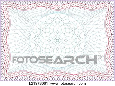 Clipart of Frame for diploma or passport. k21973061 - Search Clip ...
