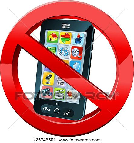 a no mobile phone or please turn off phones sign with a mobile phone in a red crossed circle