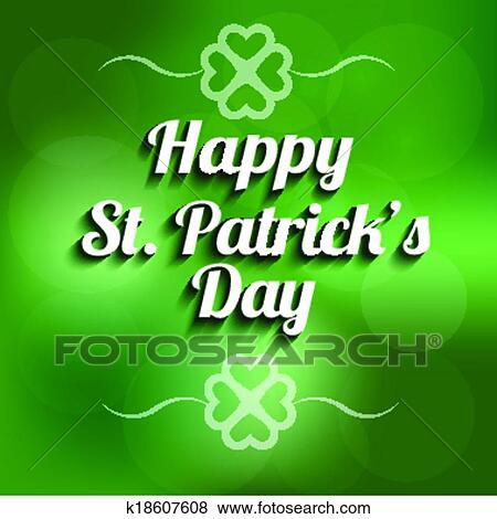 Vector St Patrick Day Background Si Clip Art