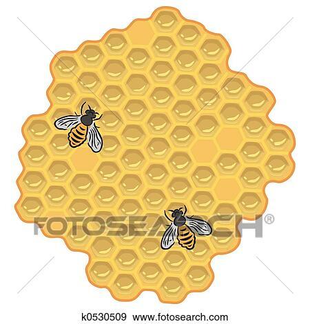 蜂 そして 蜂蜜 イラスト K0530509 Fotosearch