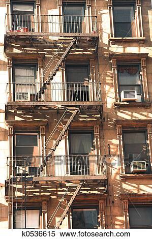City Apartment Fire Escape