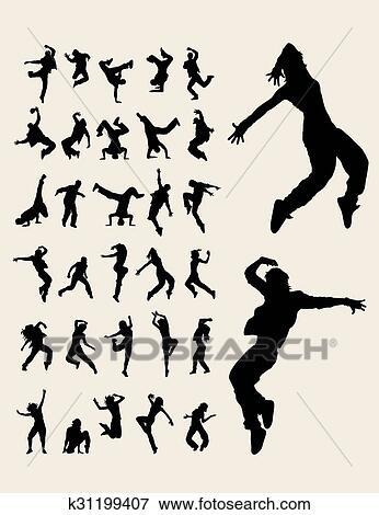 clip art of hip hop dancers silhouettes k31199407 search clipart rh fotosearch com hip hop clipart old school hip hop clipart old school