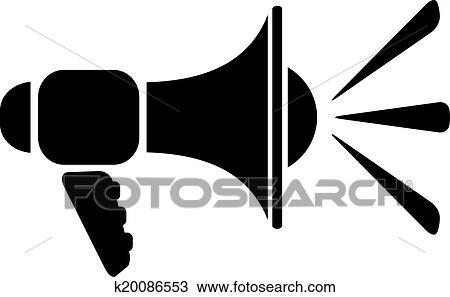 Clipart - lautsprecher, symbol k20086553 - Suche Clip Art ...