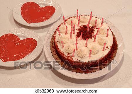 Phenomenal Valentine Birthday Cake Stock Image K0532963 Fotosearch Funny Birthday Cards Online Inifofree Goldxyz