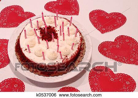 Groovy Valentine Birthday Cake Stock Photograph K0537006 Fotosearch Funny Birthday Cards Online Inifofree Goldxyz