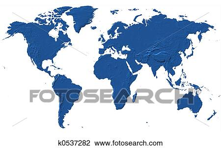 Clip art of world map k0537282 search clipart illustration world map africa america asia europe oceania gumiabroncs
