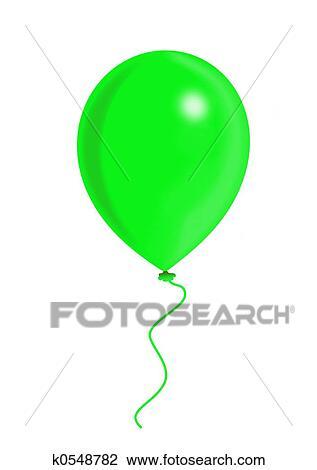 Balao Verde Desenho K0548782 Fotosearch