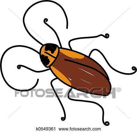 clipart of cockroach k0549361 search clip art illustration murals rh fotosearch com cockroach clipart png cockroach clipart gif