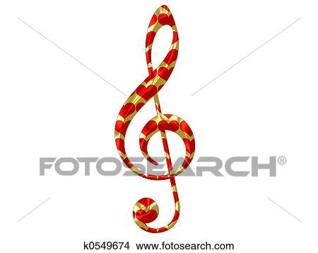 Clave De Sol Corazon Música Clave De Sol Corazón Abstracción