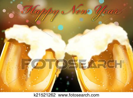 clip art happy new year beer celebreation fotosearch search clipart illustration posters