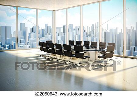 Dessin moderne intérieur bureau à beau ver lumière du jour
