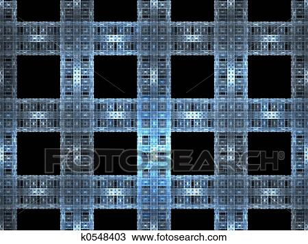 Technology Fractal Background Drawing