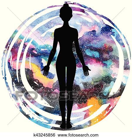 women silhouette yoga mountain pose tadasana clip art