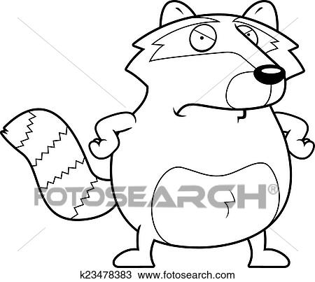 Clipart Of Angry Raccoon K23478383