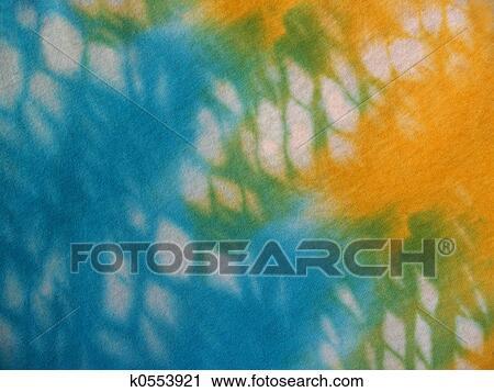 0b4c3552 Aqua, Yellow Tie-dye Stock Image | k0553921 | Fotosearch