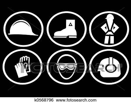 Stock Illustration Of Construction Site Safety Symbols K0568796