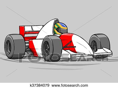 Banque d 39 illustrations enfant rigolote dessin anim - Course de voiture dessin anime ...