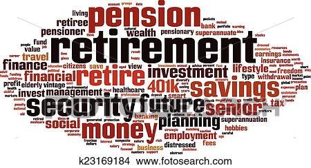 clipart of retirement word cloud k23169184 search clip art