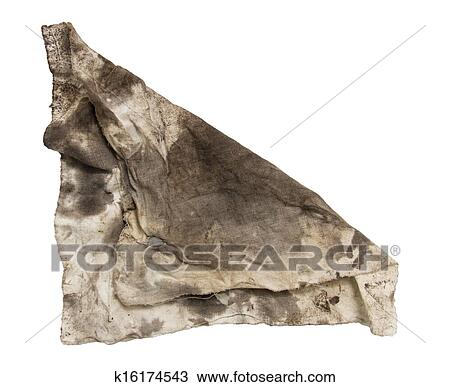 b031690e67568 Stock Photo of dirty rag on a white background k16174543 - Search ...