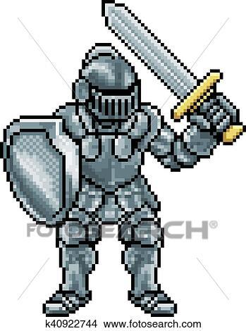 Pixel Art Chevalier Clipart