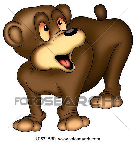 banco de ilustrações urso marrom k0571580 busca de imagens de