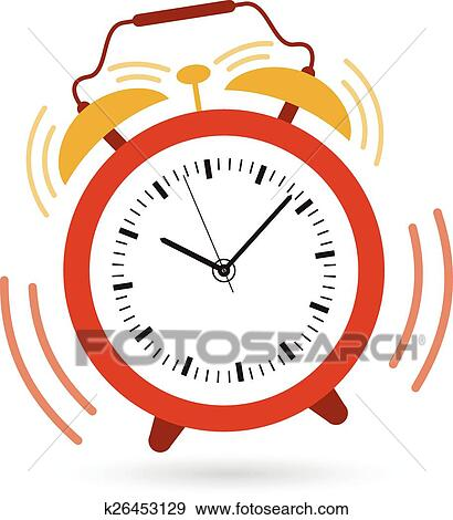 clip art of alarm clock going off k26453129 search clipart rh fotosearch com alarm clipart alarm clipart black and white