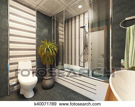 Cuarto de baño, decoración, diseño Colección de ilustraciones