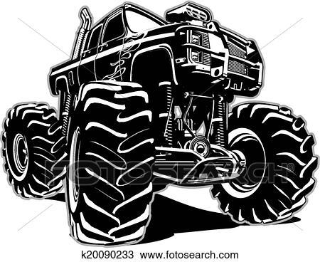 Clipart Dessin Animé Camion Monstre K20090233 Recherchez Des