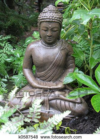 Pictures of Garden Buddha k0587548 - Search Stock Photos, Images ...