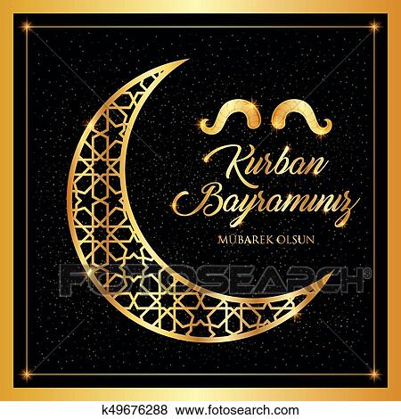 Clip art of kurban bayrami islamic festival of sacrifice eid al kurban bayrami islamic festival of sacrifice eid al adha mubarak greeting card vector illustration m4hsunfo