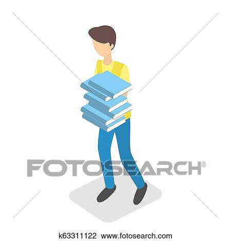 A Little Girl Reading a Book on a Stack of Books clipart. Commercial use  GIF, JPG, WMF, EPS, SVG clipart # 139286 | Graphics Factory