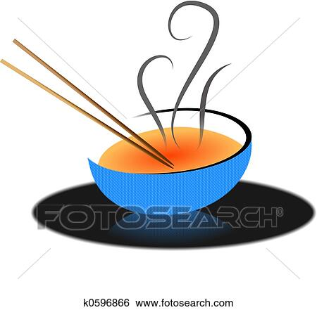 stock illustration of asian soup k0596866 search clip art rh fotosearch com bowl of hot soup clipart bowl of soup clipart free