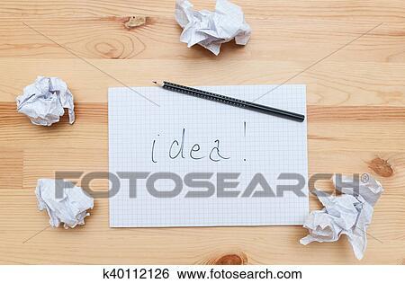 Banque D Images Bloc Notes Sur Bureau Bois K40112126