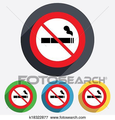 Stock Illustration Of No Smoking Sign Icon Cigarette Symbol