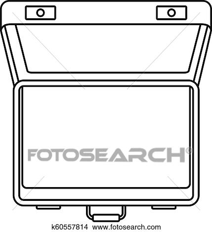 Open Suitcase Icon Outline Style Clipart K60557814 Fotosearch