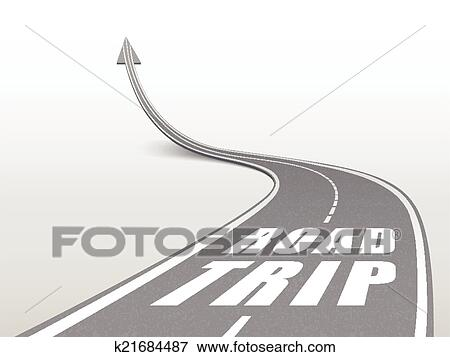 clip art of road trip words on highway road k21684487 search
