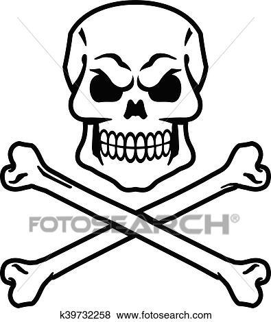 clip art of skull crossbones k39732258 search clipart rh fotosearch com girly skull and crossbones clipart clipart skull and crossbones free
