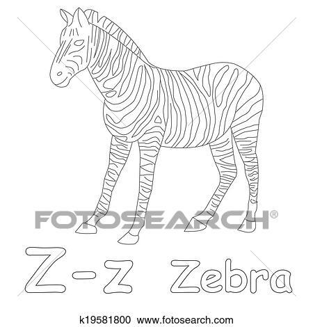 Stock Illustrations Of Z For Zebra Coloring Page K19581800