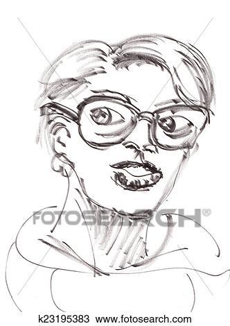 Mao Desenhar Menina Desenho K23195383 Fotosearch