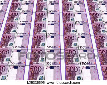 Stacks Of Euro Notes Stock Ilration